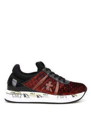 PREMIATA: sneakers - Sneaker Liz in velluto trapuntato