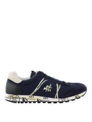 PREMIATA: sneakers - Sneaker blu Lucy in tecnotessuto