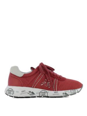 PREMIATA: sneakers - Sneaker Mattew-D in tessuto rosso