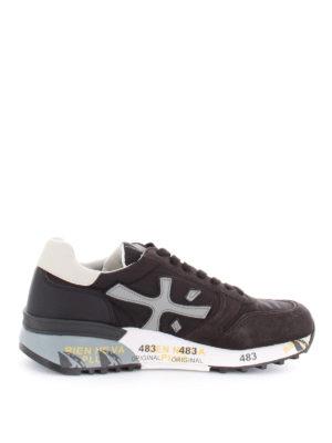PREMIATA: sneakers - Sneaker Mick in camoscio pelle e tessuto