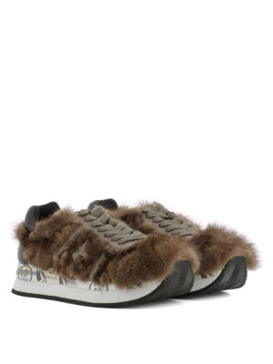 Premiata: trainers online - Conny 2598 fur inserts sneakers