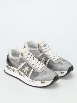 Premiata: trainers online - Conny lurex mesh sneakers