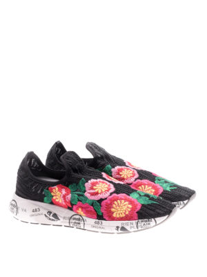 Premiata: trainers online - Janei embroidered pull-on sneakers