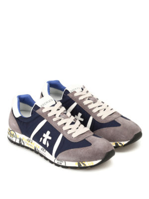Premiata: trainers online - Lucy nylon and suede sneakers