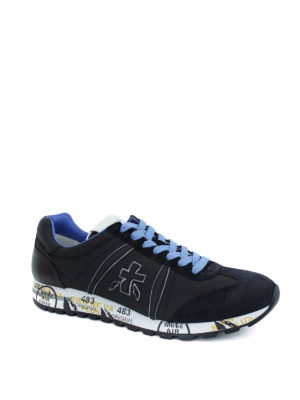 Premiata: trainers online - Lucy suede and fabric sneakers