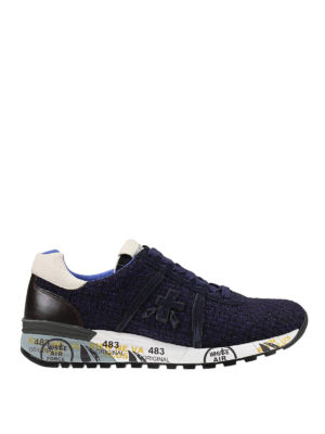 Premiata: trainers - Wool and leather Morris sneakers