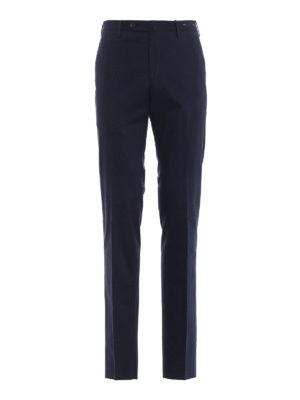 PT 01: pantaloni casual - Pantaloni chino slim in rasatello blu