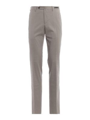 PT 01: pantaloni casual - Pantaloni chino slim in rasatello grigio