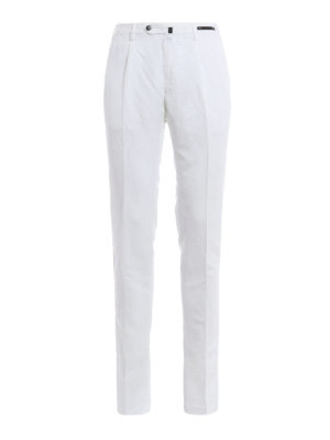 Pt 01: casual trousers - Linen and cotton super slim chinos