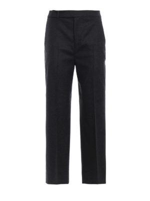 PT 01: pantaloni casual - Pantaloni Michelle in flanella di lana