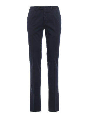Pt 01: casual trousers - Micro pattern cotton chino trousers