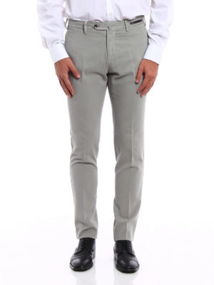 Pt 01: casual trousers online - Cotton and cashmere blend trousers