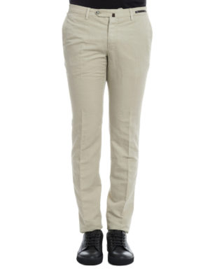 Pt 01: casual trousers online - Linen and cotton blend chinos