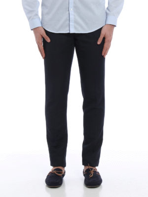 Pt 01: casual trousers online - Linen and cotton blend trousers