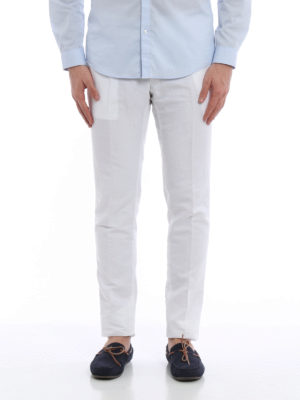 Pt 01: casual trousers online - Linen and cotton super slim chinos
