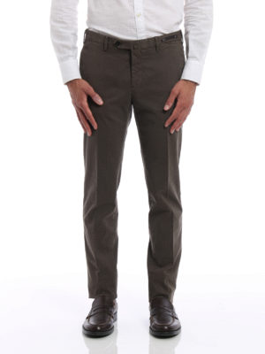 Pt 01: casual trousers online - Stretch cotton super slim trousers