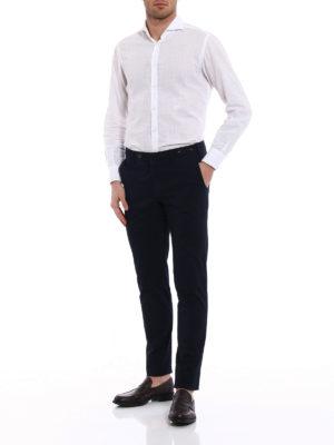 Pt 01: casual trousers online - Wornout Elegance blue trousers