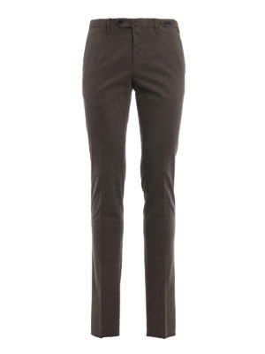 Pt 01: casual trousers - Stretch cotton super slim trousers