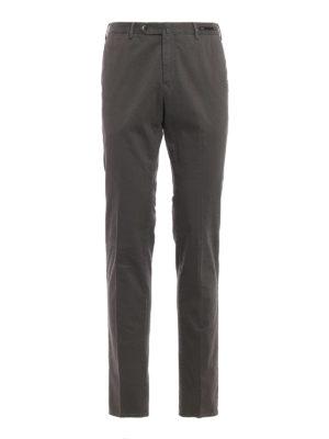 PT 01: pantaloni casual - Pantaloni super slim in cotone stampato