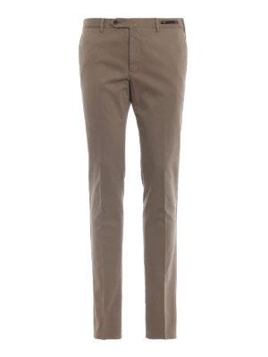 PT 01: pantaloni casual - Pantaloni kaki in misto cotone selezionato