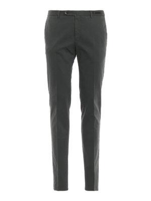PT 01: pantaloni casual - Pantaloni grigi in misto cotone selezionato