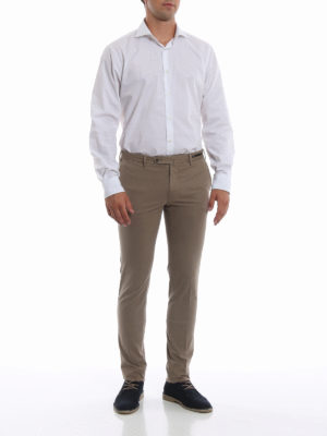PT 01: pantaloni casual online - Pantaloni kaki in misto cotone selezionato