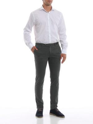 PT 01: pantaloni casual online - Pantaloni grigi in misto cotone selezionato