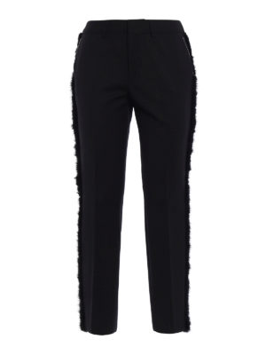 Pt 01: Tailored & Formal trousers - New York fur trimmed trousers