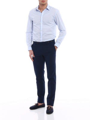 Pt 01: Tailored & Formal trousers online - Bombay Hills slim fit blue chinos