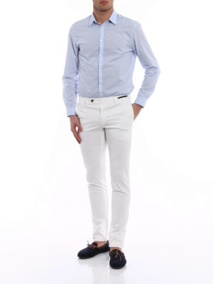 Pt 01: Tailored & Formal trousers online - Bombay Hills slim fit white chinos