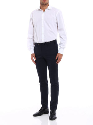 Pt 01: Tailored & Formal trousers online - Micro check wool blend trousers