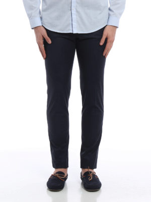 Pt 01: Tailored & Formal trousers online - Micro pattern cotton trousers