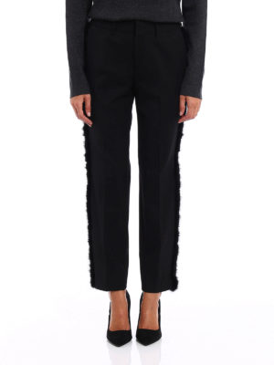 Pt 01: Tailored & Formal trousers online - New York fur trimmed trousers