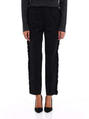 pt 01 tailored formal trousers online new york fur trimmed. Black Bedroom Furniture Sets. Home Design Ideas