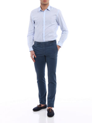 Pt 01: Tailored & Formal trousers online - Spice Route faded blue chinos