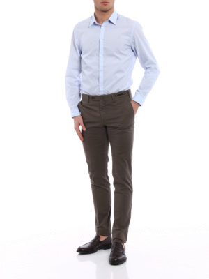 Pt 01: Tailored & Formal trousers online - Spice Route green Madras chinos
