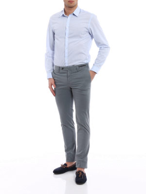 Pt 01: Tailored & Formal trousers online - Spice Route grey Madras chinos