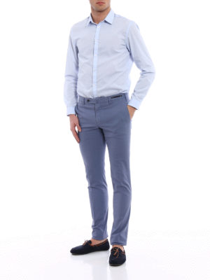 Pt 01: Tailored & Formal trousers online - Spice Route purple Madras chinos
