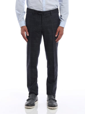 Pt 01: Tailored & Formal trousers online - Super slim check wool trousers
