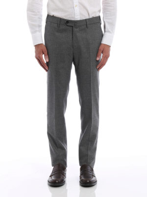 Pt 01: Tailored & Formal trousers online - Super slim melange wool trousers