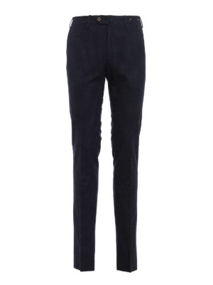 Pt 01: Tailored & Formal trousers - Patterned fleece cotton trousers