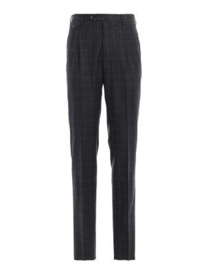 PT 01: Pantaloni sartoriali - Pantaloni in lana Super 130's a quadri