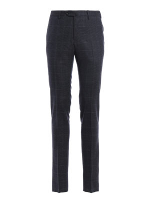 Pt 01: Tailored & Formal trousers - Super slim check wool trousers