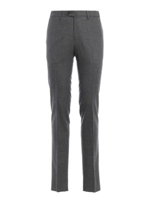 Pt 01: Tailored & Formal trousers - Super slim melange wool trousers