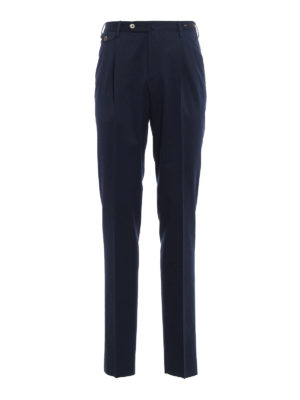 Pt 01: Tailored & Formal trousers - Wool blend pocket detailed trousers