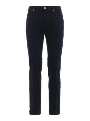 PT05: pantaloni casual - Pantaloni Soul slim fit in cotone blu