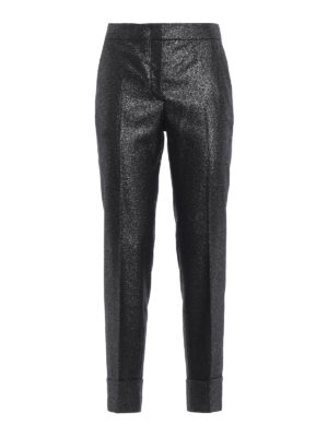 PT0W: Pantaloni sartoriali - Pantaloni Andrea in lurex con risvolto