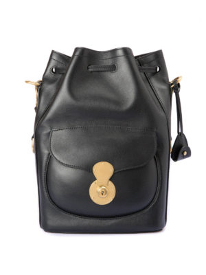 Ralph Lauren: Bucket bags - Leather bucket bag