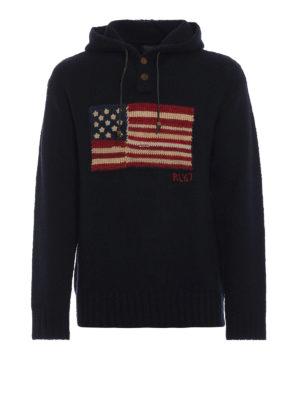 RALPH LAUREN: maglia collo rotondo - Pullover con ricamo bandiera americana