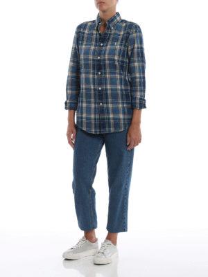 RALPH LAUREN: camicie online - Classica camicia a quadri con collo b/d